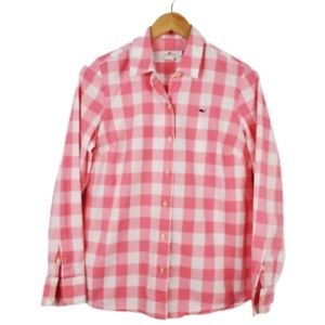 Vineyard vines womens pink gingham button down
